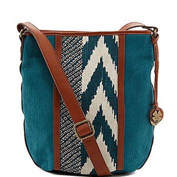 Lucky Brand Kendal Flap X Cross Body Bag, One Size, Deep Sea