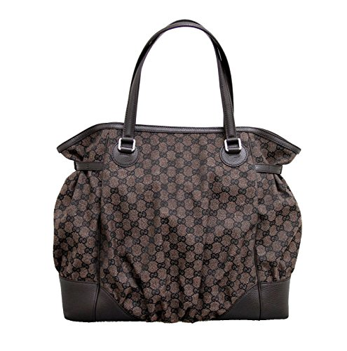 Gucci Brown Canvas Full Moon Tote Large Handbag 257290