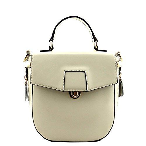 Heshe® Fashion New Women Ladies Leather Flap Shoulder Bag Mini Tote Top Handle Bag Cross Body Drew Handbag