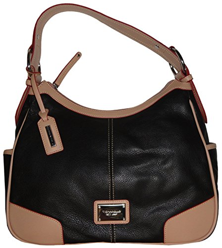Tignanello Purse Handbag All Star Hobo Black/Light Vachetta