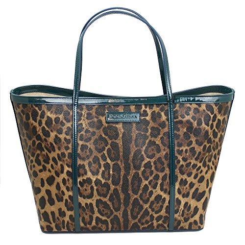 Dolce & Gabbana Leopard Print PVC Tote Bag Bb4391 B9392-2