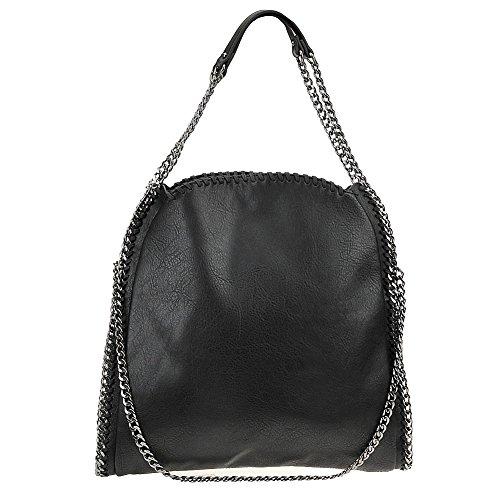 Steve Madden Womens BTOTALLY Shoulder Tote Bag (Black)