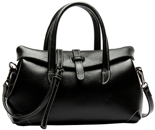 Heshe® Women's New Fashion Cow Leather Shoulder Bag Tote Handbag Sling Bag for Ladies