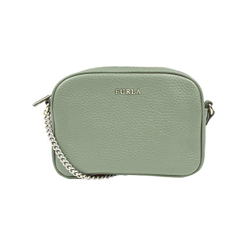 Furla Pebbled Leather MIKY Mini Cross Body Shoulder Bag (Salvia)