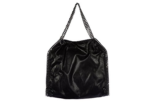 Stella Mccartney women's shoulder bag original falabella shaggy deer black