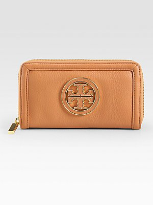 Tory Burch Amanda Continental Zip Around Wallet Age Vachetta