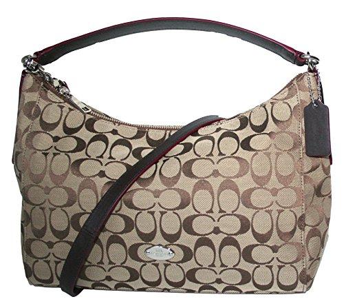 Coach 12cm Signature Celeste East West Hobo Shoulder Bag Mahogany F36716