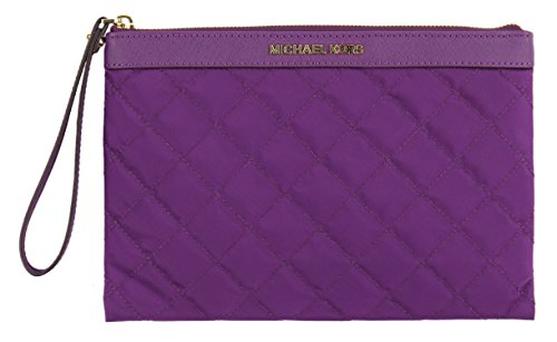 Michael Kors Women's Nylon Tech Zip Clutch Case Wristlet