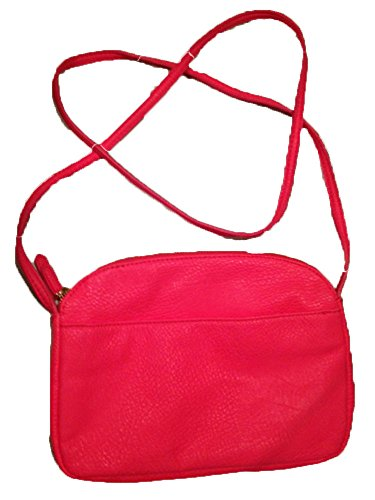BCBG Solid Hot Pink Crossbody Shoulder Strap Handbag