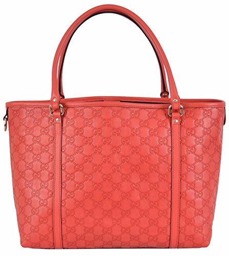 Gucci Women's Large Red Leather Guccissima GG Joy Tote