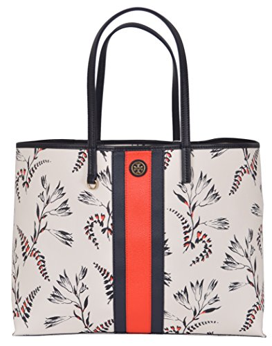 Tory Burch Kerrington Stripe Cape Printed Floral Large Tote Handbag