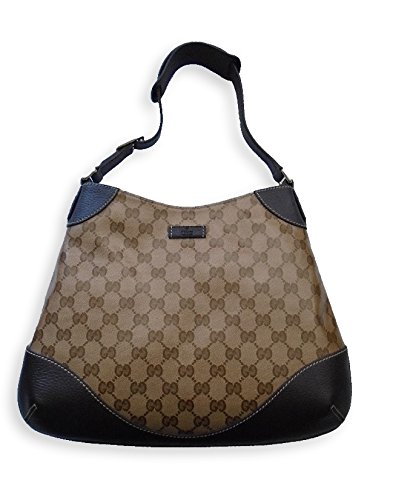 Gucci Crystal Guccissima Hobo Handbag, Brown 272386