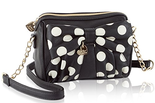 Betsey Johnson Dots Crossbody Bag – Black