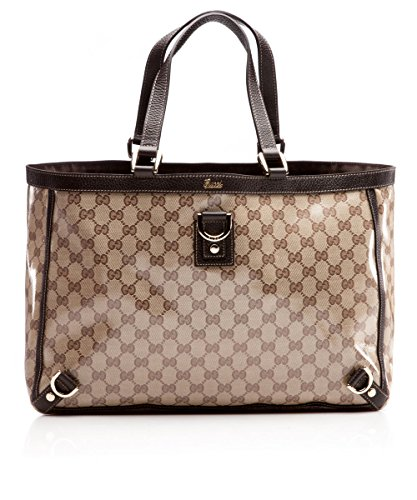 Gucci Light Brown GG Leather and Canvas Tote Bag