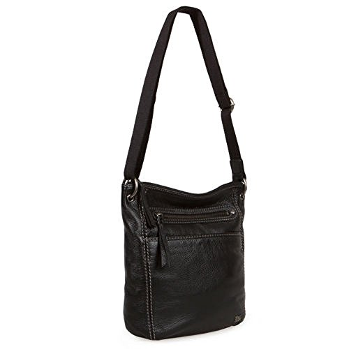 The Sak Black Leather Crossbody, Black