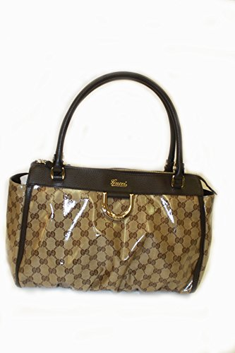 Gucci Handbag Crystal Brown and Beige Leather 327787 (Purse)