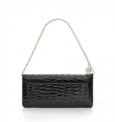 Eric Javits Womens Leather Bentley Flap-over Purse Shoulder Handbag