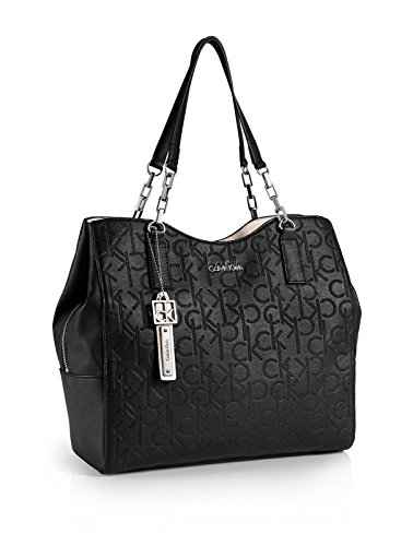 Calvin Klein Sadie Center Zip Hobo Bag Handbag (Black)