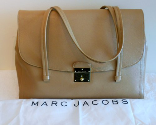 Marc Jacobs NEW Lullaby Beige Satchel Leather Sold Out Bag Handbag Purse Italy