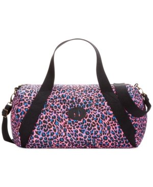 Madden Girl Canvas Duffle Bag Pinkleopard