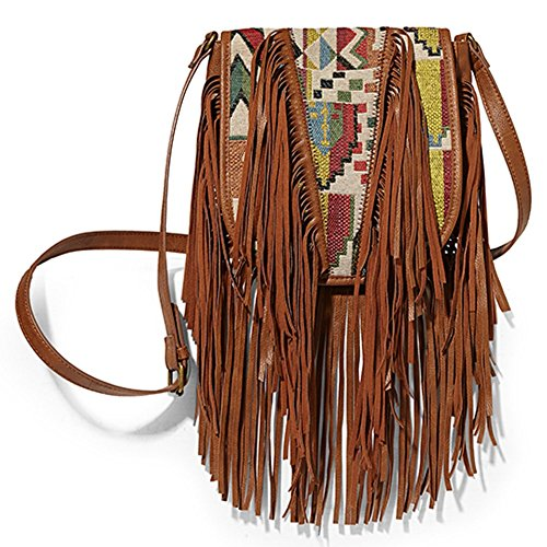 Steve Madden Handbag Madden Girl Mgbonita Fringe Multi Cross-body Shoulder Bag