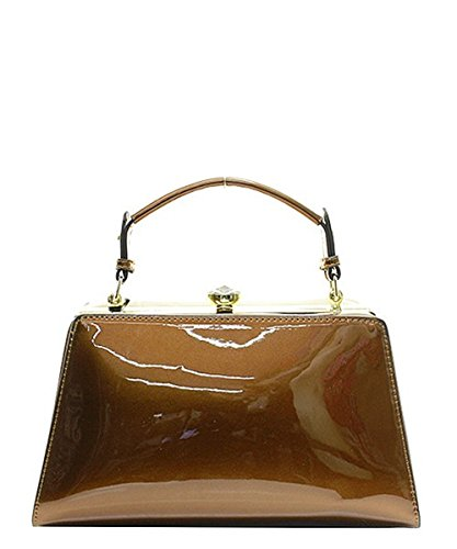 Patent Leather Clutch Evening Shoulder Holiday Party Handbag