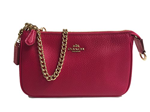 Coach Nolita Wristlet Handbag Pebble Leather 53077