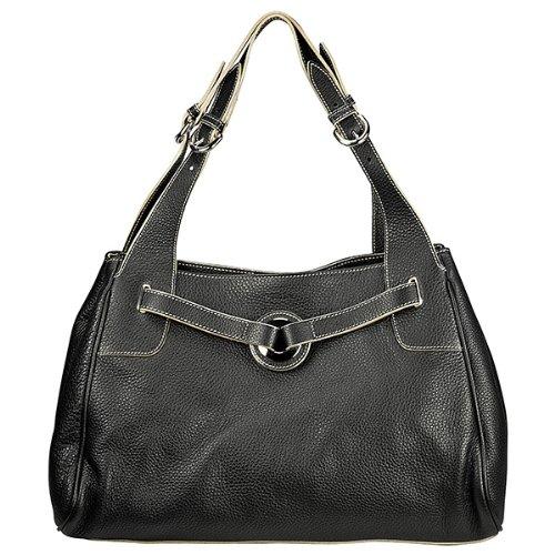 Furla Black Pebbled Leather Large Shoulder Bag 174873-BOB875Z