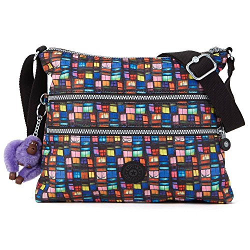 Kipling Women's Alvar Crossbody Bag One Size Blk Whimsical Wndws Print