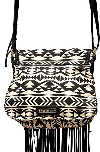 Madden Girl MGORCHED Cross Body Bag Aztec Black & White
