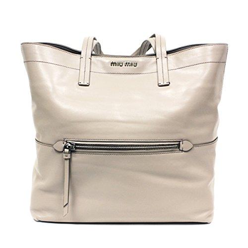 Miu Miu Telco Leather Tote Bag