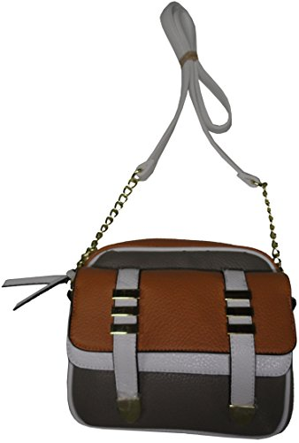Steve Madden Women's/Girl's Crossbody/Xbody Handbag, Camel/White/Grey
