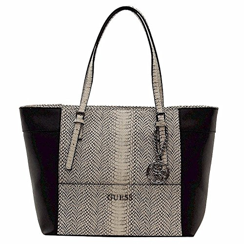 Guess Women's Delaney Small Classic White Multi Tote Handbag
