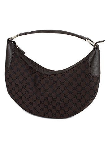 Gucci Women's Brown Fabric Half Moon Bag