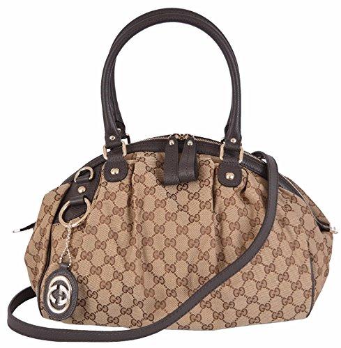 Gucci Women's Beige GG Guccissima Convertible Sukey Handbag