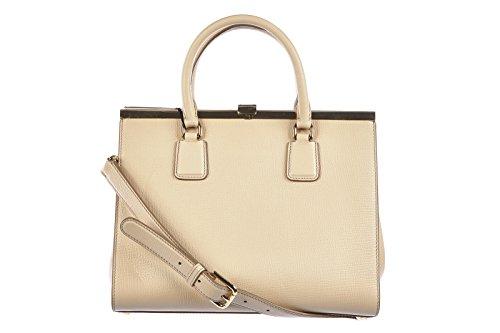 Dolce&Gabbana women's leather handbag shopping bag purse palme calfskin beige