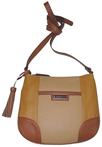 Tignanello Women's Genuine Leather *Classic Prep* Xbody Handbag, Honey/Cognac/Whiskey