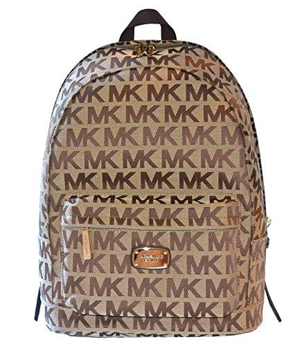 Michael Kors Signature Tech Jet Set Item LG Back Pack Purse Tote Handbag