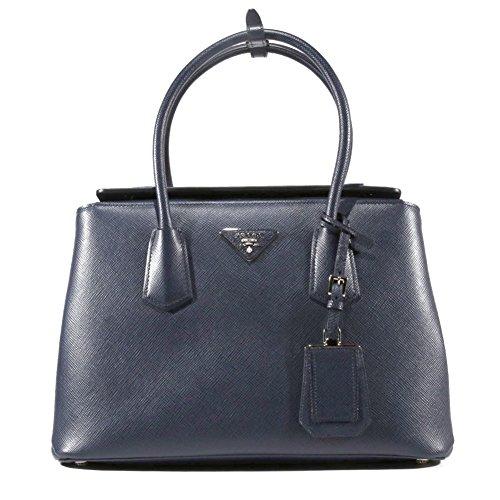 Prada BN2823 Saffiano Leather Top Handle Shoulder Bag Purse Handbag (Baltico/Navy Blue)