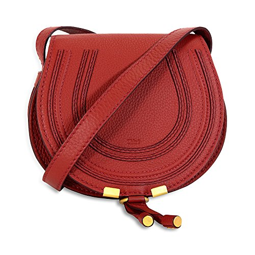 Chloe Marcie Small Leather Handbag – Sienna Red