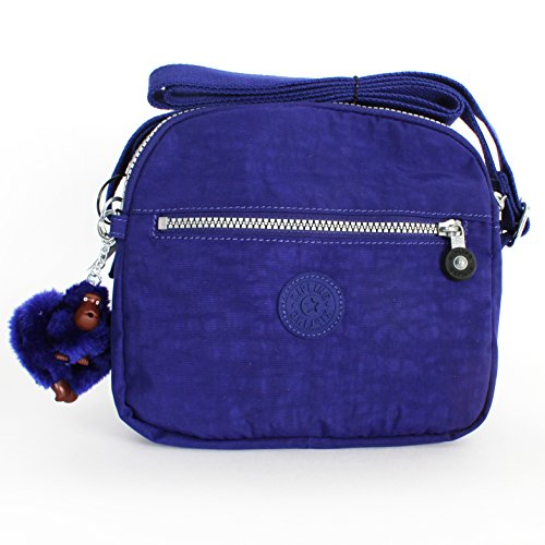 Kipling Keefe Shoulder Bag Crossbody Blue Berry Pie