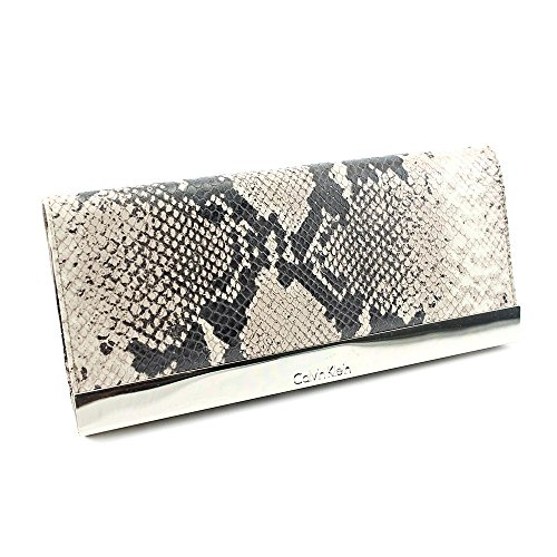 Calvin Klein FEC000488 Womens Animal Print Leather Clutch