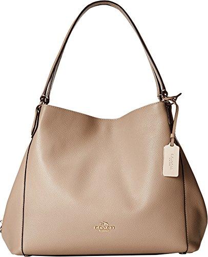 COACH Women's Refined Pebble Leather Edie 31 Shoulder Bag Li/Stone Shoulder Bag