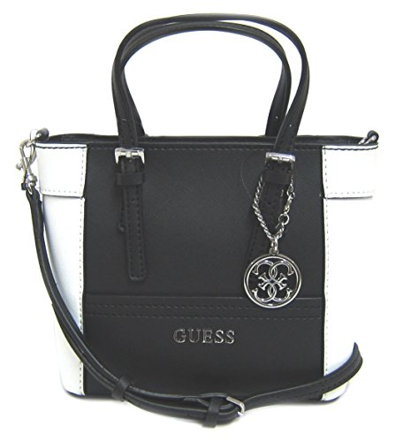 GUESS Women's Delaney Mini Tote Bag, Black Multi