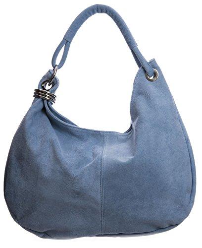 Big Handbag Shop Women Italian Real Suede Leather Large Hobo Shoulder Bag