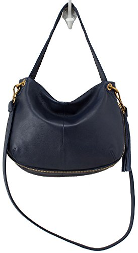 Hobo Handbags Supersoft Leather Vale Convertible Crossbody – Navy