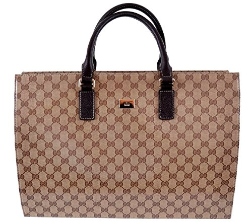 Gucci 190630 Crystal Canvas GG Guccissima Briefcase Bag