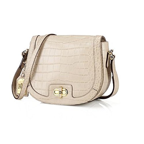 Lauren Ralph Lauren Lanesborough Medium Crossbody – Stone