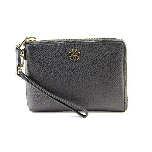Tory Burch Robinson Pebbled Wristlet Women Leather Wristlet