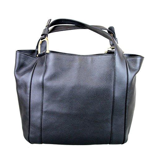Gucci Greenwich Black Large Handbag Leather Bag 341496 1001